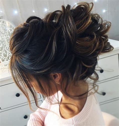 young bridesmaid buns beautiful messy bridal hair updos messy bridal hair