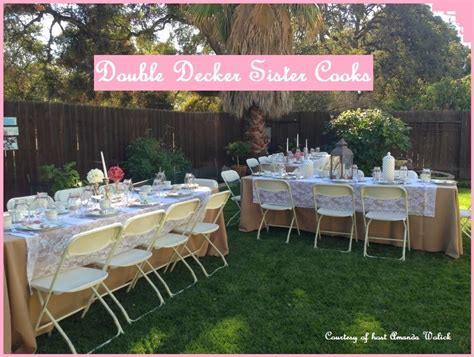 double decker sister cooks party baby shower ideas
