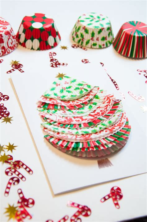 cupcake liner trees 12 days of day 9 cupcake liner tree cards all that glitters