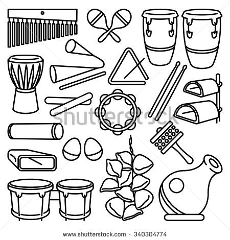 percussion family coloring page percussion stock images royalty free images vectors