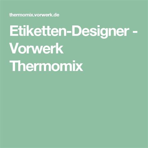 Thermomix Aufkleber Etiketten by Die Besten 25 Thermomix Aufkleber Ideen Auf