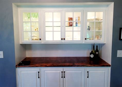Built In Bar Cabinets Bar Cabinet Built In Traditional Kitchen New York By Sapia Builders Corp