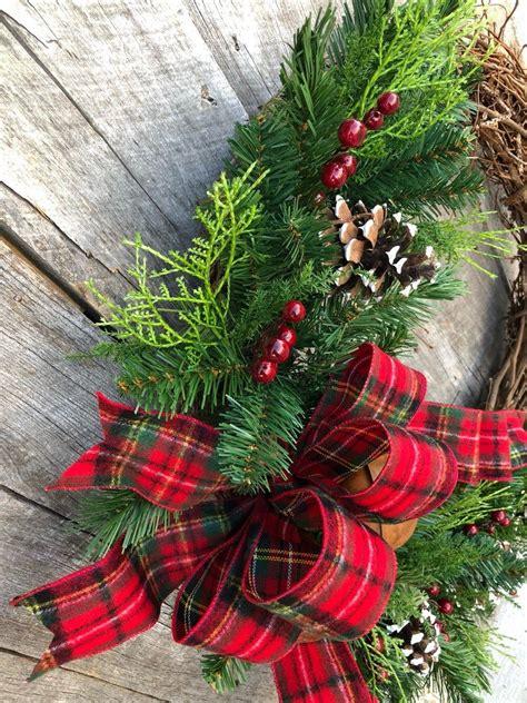 christmas wreath  bells farmhouse wreath holiday