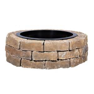 Outdoor Firepit Kit Shop Ashland Flagstone Pit Patio Block Project Kit At Lowes