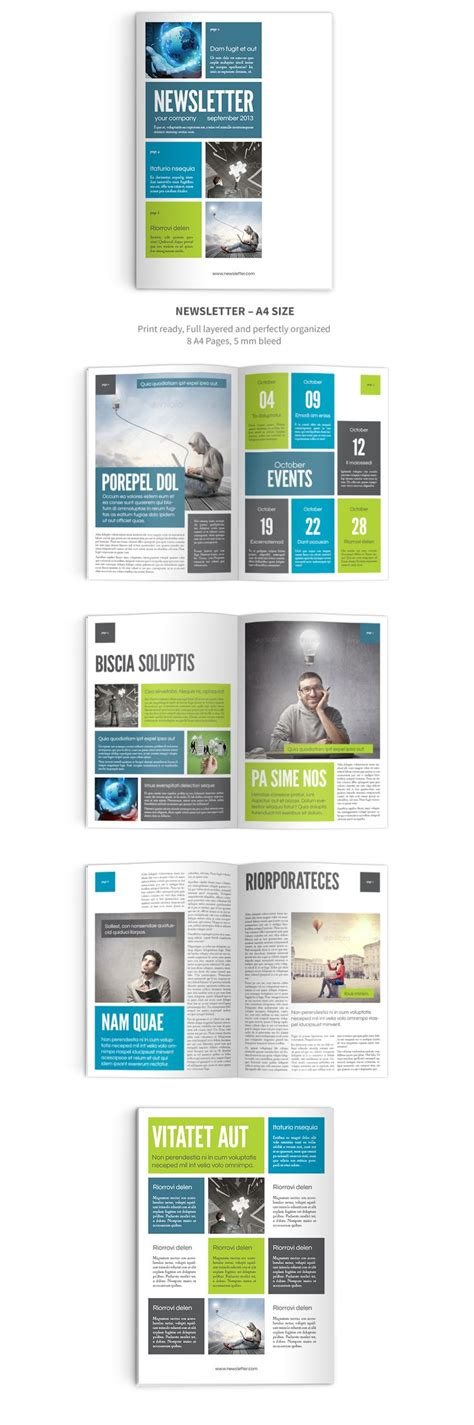 Newsletter Indesign Template 6 Pages Easy To Use Print Ready Ideas Pinterest Galleries Indesign Template Ideas