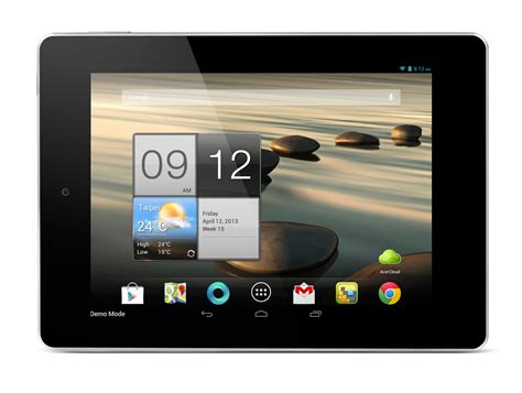 new android tablets acer just restarted the android tablet race new target is 100