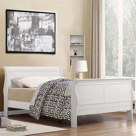 sleigh bed white sleigh beds size product options homesfeed