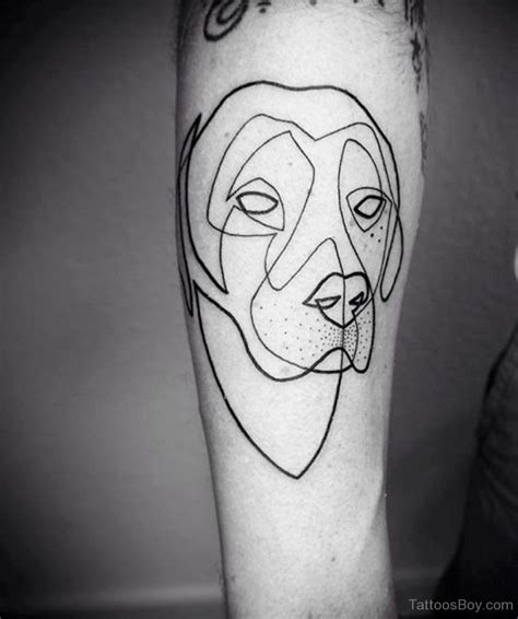 dog outline tattoo tattoos designs pictures page 8