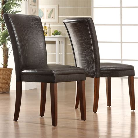 Tribecca Home Dining Chairs Tribecca Home Decor Faux Alligator Print Dining Chair Set Of 2 Contemporary Dining Chairs