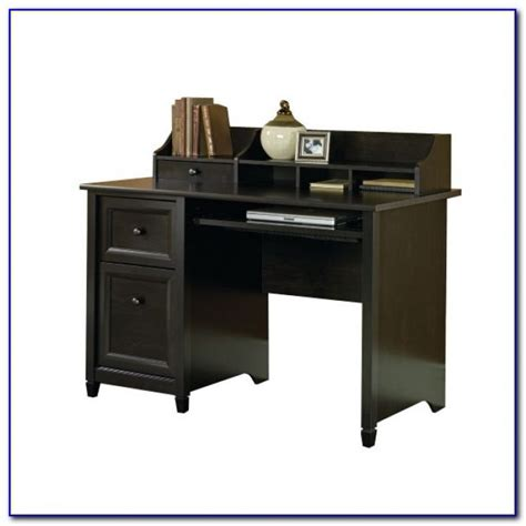 sauder edge water executive desk in chalked chestnut sauder edge water desk chalked chestnut desk home
