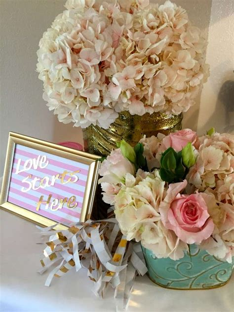 pink and gold bridal shower supplies pink mint and gold bridal wedding shower ideas photo 1 of 36 catch my