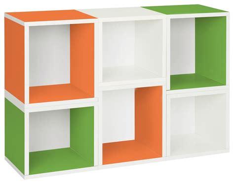 Modern Modular Bookcase Way Basics Eco Stackable Arlington Modular Bookcase Green