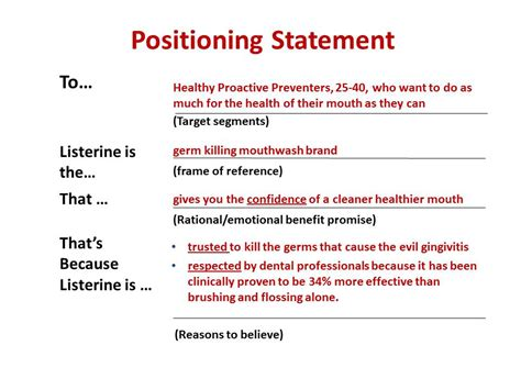 positioning statement template another brand positioning statement template i
