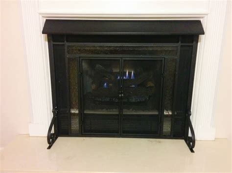 empire 28 quot to 48 quot black adjustable fireplace