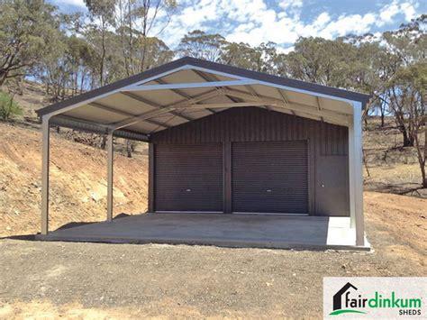 Open Car Garage Design garage with garaport for sale fair dinkum sheds