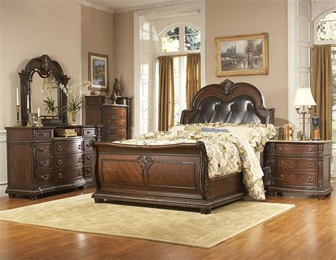 bed and bedroom furniture homelegance palace bedroom collection special 1394 bed set