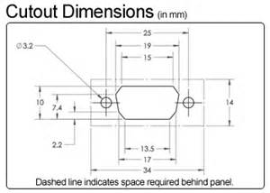 db9 serial panel mount male extension datapro
