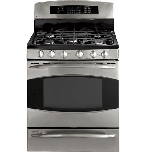 ge profile gas range ge profile 30 quot free standing gas range with baking drawer pgb918semss ge appliances