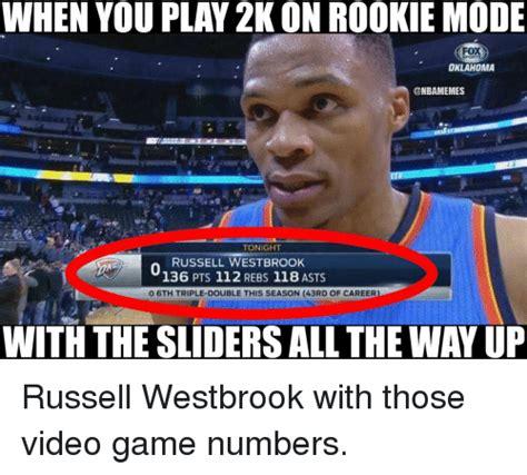 Russell Westbrook Meme - oklahoma tonight russell westbrook 136 pts 112 rebs 118