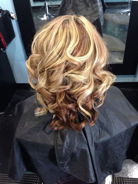 blonde highlights with copper lowlights copper red lowlights with blonde highlights fall color