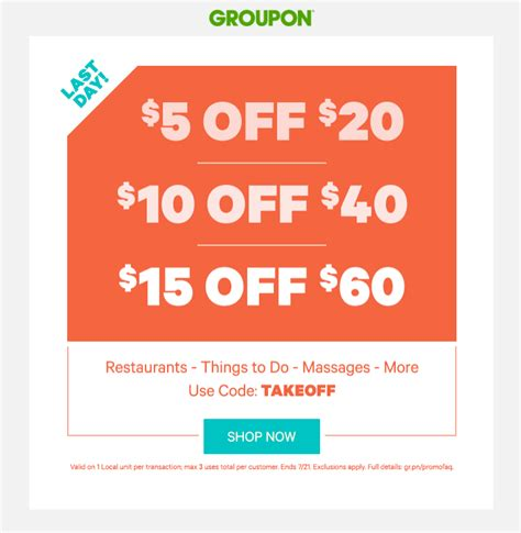 groupon coupon code $5 off august 2018