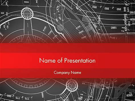 Complex Engineering Drawings Presentation Template For Powerpoint And Keynote Ppt Star Engineering Drawing Ppt