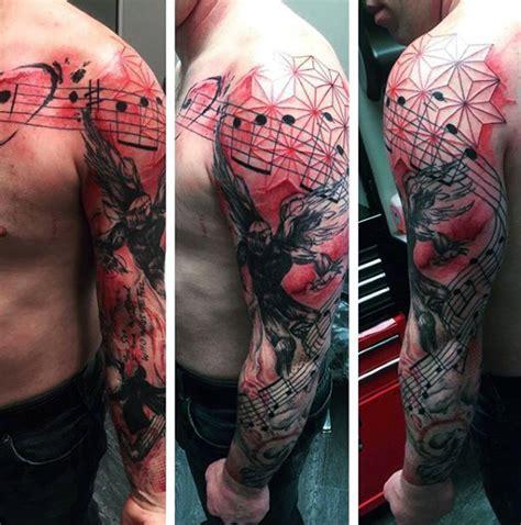 music sleeve tattoos designs 73 cool sleeve tattoos ideas and designs