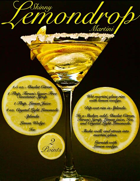 martinis recipes lemon drop recipe dishmaps