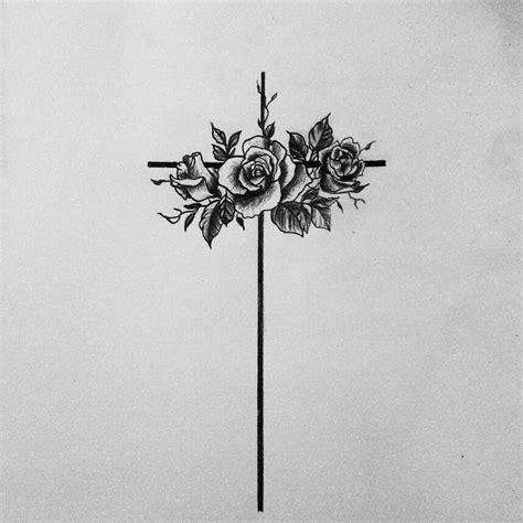 tattoo flower cross cross flowers religious tattoo girly meaningfull my pics