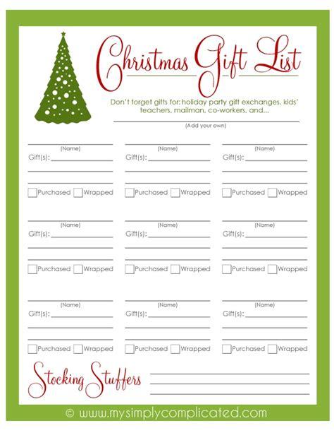 download this free printable christmas gift list to keep