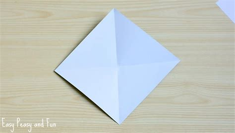 Fold Paper Into Triangle - easter bunny corner bookmark diy origami for easy