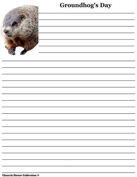 groundhog day writing paper groundhog day writing paper for school
