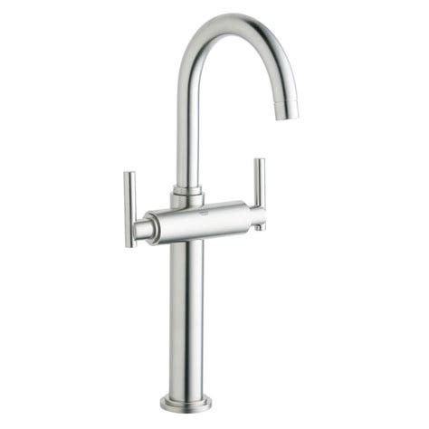 shop grohe concetto super steel 1 handle deck mount pull grohe concetto single handle pull down sprayer kitchen