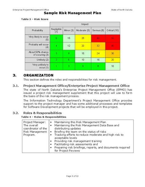 Exle Of A Risk Management Plan Template risk management plan sle hashdoc