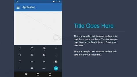 Android Numeric Keyboard Ui Toolkit Slidemodel Android Flat Design Template