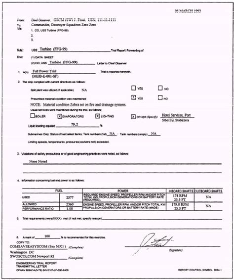 Transmittal Letter For Equipment Processing
