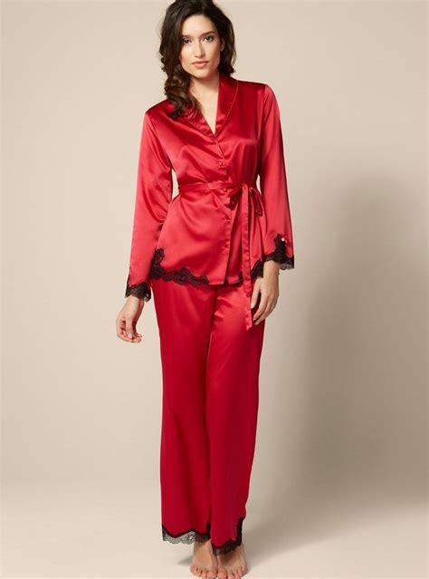 Maxi Flowy Cardi Gr 90913 satin and lace pyjamas by boux avenue pajamas