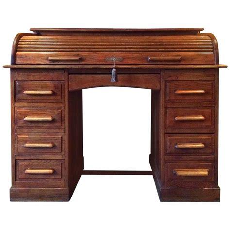 solid oak desk antique roll top desk twin pedestal writing desk solid oak