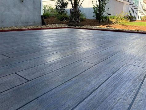 concrete wood patio cape fear concrete coatings