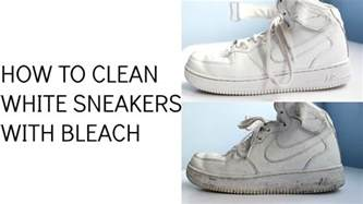 how to clean white sneakers with