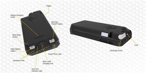 iphone stun gun case  charger yellow jacket
