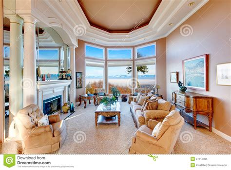 Rich Living Room by Amazing Rich Interior With Stunning Window View On