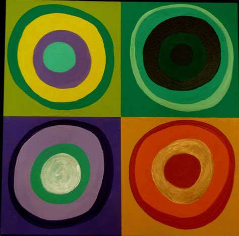 abstract paintings with circles squares with circles kandinsky inspired abstract painting