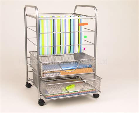 Rolling File Cart With Drawers china mesh rolling file cart with drawers silver