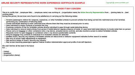 security guard experience letter sle ideas security guard cover letter resume covering