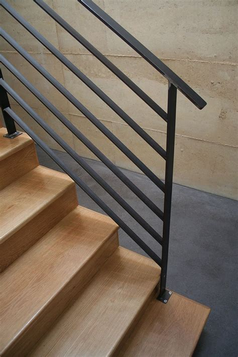 Flat Stair Handrail 25 Best Steel Railing Ideas On Perforated