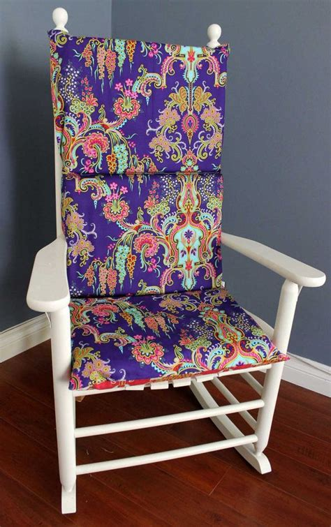 purple rocking chair cushions rocking chair cushion purple pink floral