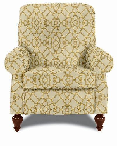 pattern fabric reclining chairs the spindale high leg recliner by la z boy in a modern