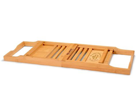bamboo bathtub caddy bamboo bathtub caddy from bamb 252 si by belmint 187 gadget flow
