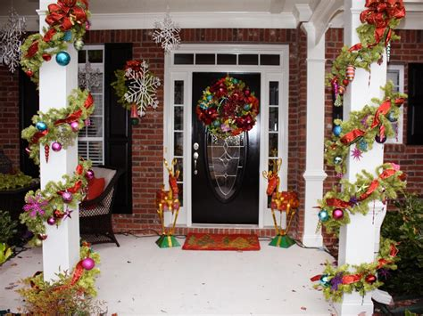 awesome enrtry way with front porch christmas decorations plus glass balls completed with